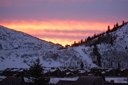 park city utah sunrise