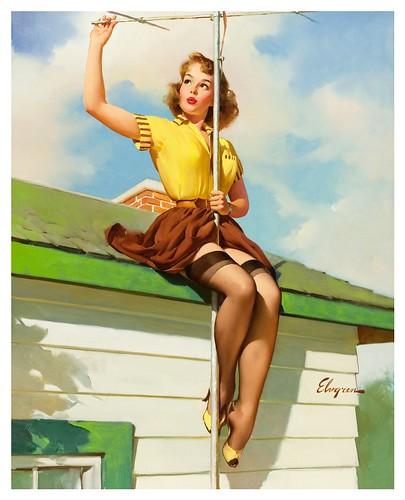 022-Gil Elvgren-modelo Janet Rae -via Las pin-ups de Gil Elvgren en carne y hueso