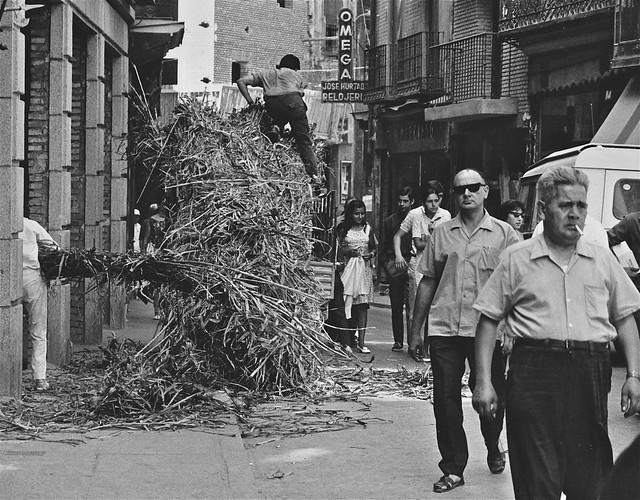 Obras en una casa en la Calle Ancha en 1967. Fotografía de John Fyfe