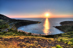 And then there was Light (+1) - hanauma bay sunrise (jhames808.com) Tags: ocean morning travel reflection sunrise hawaii horizon hike hanaumabay hdr highdynamicrange jhames808 jhamesphotography kokoheadlooptrail henryaguilarakajhames808