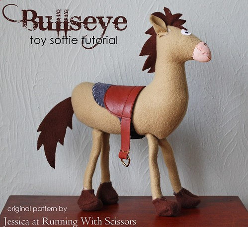 Handmade Bullseye Toy Softie