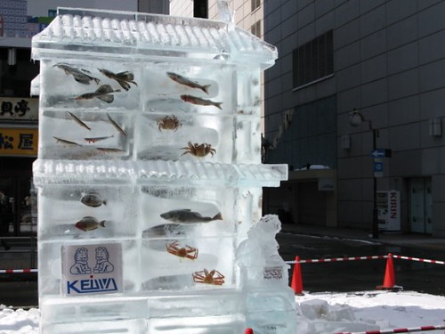 ice sculpture fish shop by clairelynn