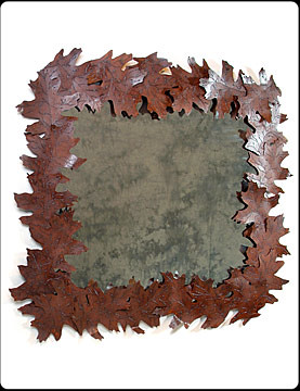 Mighty Oak Large Metal Mirror