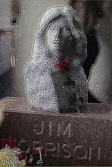 Jim Morrison Gravestone 1981 - Bust - GraveMarker - Cimetire du Pre Lachaise - without graffiti - ohne Graffiti - Sans graffitis ---- No commercial use of the photo !!!!! (normandie2005_horst Moi_et_le_monde) Tags: friedhof paris cemetery grave 1971 tomb tombstone jim bust 1981 marker grab morrison bste grabstein perelachaise cimetiere buste jimmorrison thedoors gravemarker morison morrisson jimmorisson morisson 07031971