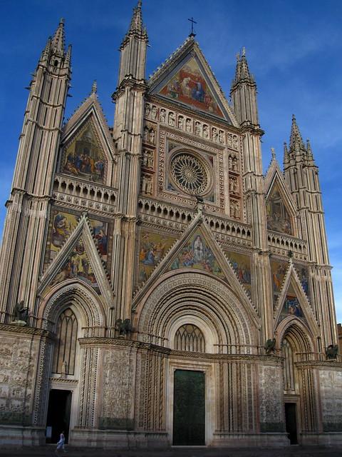 オルヴィエートの大聖堂のフリー写真素材