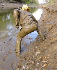 20 WS Challenge you to race me in canal mud (Wrangswet) Tags: wet canal boots hike cowboyhat cowboyboots wetlook riverhike swimmingfullyclothed muddycowboy wetcowboy wetcowboys muddycowboyboots wetwranglerjeans meninwetjeans mudwallowing guysswimminginjeans muddycowboys mudwallowingcowboy muddywranglerjeans cowboybootsandspurs