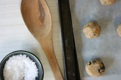 grown-up choc chip biscuits