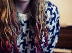dip-dyed. (yogurt with sprinkles) Tags: pink red me girl hair sweater tips dip dyed