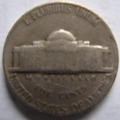 1945 No Mintmark Nickel