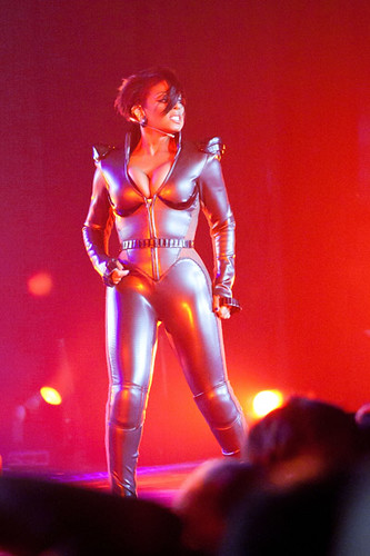 Janet Jackson performing over in  Jakarta