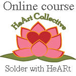 Soldering with HeArt Badge