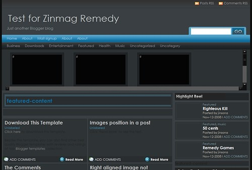Zimmag Remedy Blogger Template
