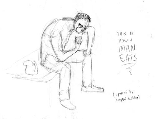 Man Eats