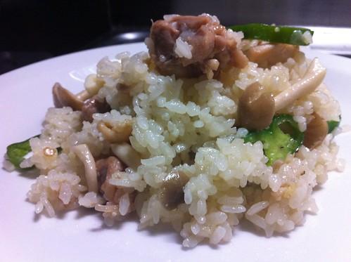 Chicken & Mushroom Pseudo-risotto
