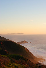 Pacific horizon at sunset