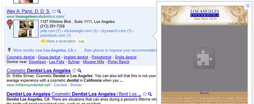 Los Angeles Dentist Website Instant Preview
