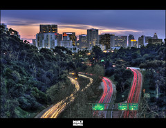 Heading into the City Re-visited [Explored] (Kyle.Maxwell) Tags: california skyline downtown sandiego trails explore maxwell hdr lightslight southerncalifonia exposurebalboa parksunsetkyle