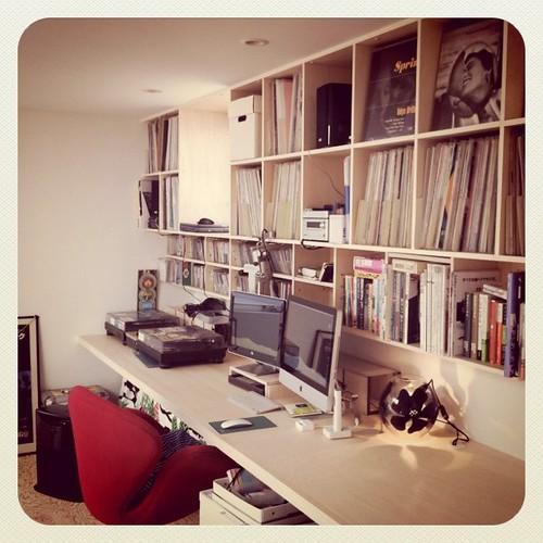 Vinyl's & study room