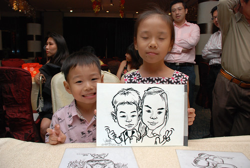 caricature live sketching for OCBC Securities - 9a