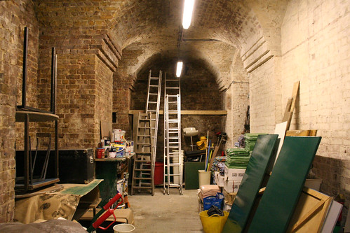 The main crypt area - used for storage