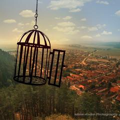 Freedom (fesign) Tags: houses sun birdcage forest landscape freedom village hill romania transylvania rosenau selectbestexcellence sbfmasterpiece szlljfelszabadmadr
