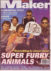"""Super Furry Animals on the cover of Melody Maker 1996 <a style=""""margin-left:10px; font-size:0.8em;"""" href=""""http://www.flickr.com/photos/58583419@N08/5460636035/"""" target=""""_blank"""">@flickr</a>"""