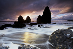 Rodeo Beach, Marin Headlands, California (photofanman) Tags: ocean california sunset beach water silhouette rocks surf sanfrancsico marinheadlands rodeobeach