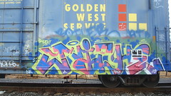 NICHE (toxic waste dump) Tags: graffiti trains boxcar freight goldenwest