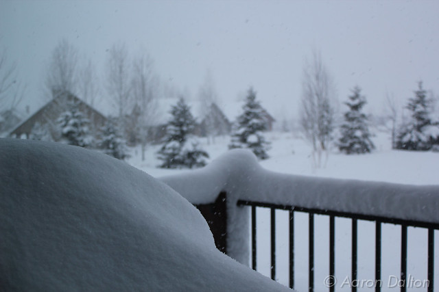 Fresh Utah Powder On the Porch