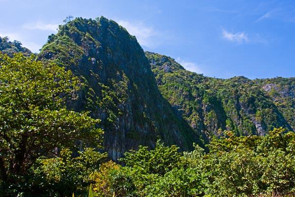 Mountains at Maya Island