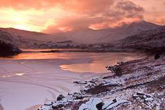 SNOWDON SUNSET  #1 (GOLDENORFE) Tags: sunset snow wales waterfalls snowdon snowdonia northwales
