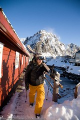 Ski & rorbu (Svinya Rorbuer) Tags: ski vinter rib lofoten fisk svinya trollfjorden