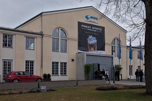 Das MVG-Museum erwartete die Besucher, ein großes Plakat wies auf die Veranstaltung hin.