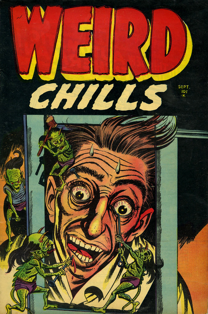 Weird Chills #2 Bernard Bailey Cover (Key Publications, 1954)
