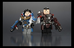 Battle Brothers (Geoshift) Tags: lego 40k warhammer warhammer40k customminifig legocustomminifig warhammerlego