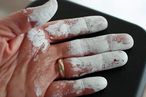Gessoed hand