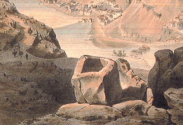 Sepulcro del Rey Moro en Toledo. Detalle de una litografía de Alfred Guesdon hacia 1850