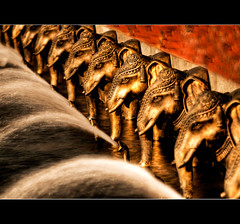 Trunk Line (JLMphoto) Tags: atlanta sunset elephant water fountain georgia temple head united states trunks hindu mandir lawrenceville baps shri swaminarayan jlmphoto