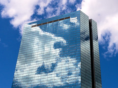 Sky Mirror (brooksbos) Tags: city sky urban tower architecture clouds skyscraper geotagged ma photography photo mr sony newengland cybershot hancock bostonma sonycybershot bostonist masschusetts lurvely 02116 everyblock thatsboston dschx5v hx5v brooksbos