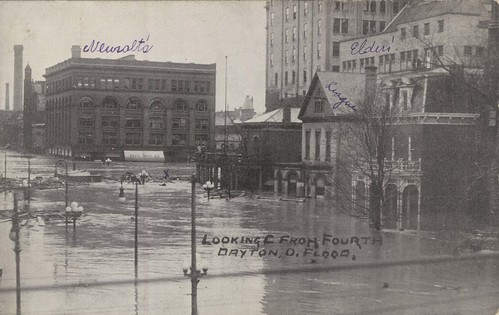 Looking East from Fourth, Dayton, OH - 1913 Flood