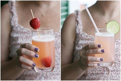 Limonada rosa: delícia!