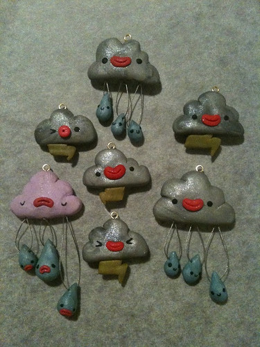 Melbourne Weather Cloud pendants!