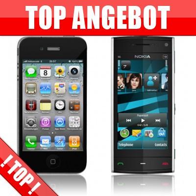 TOP Duo Handy Vertrag Angebot Apple Iphone 4 Bundles Nokia X6 online im Handyshop by a_und_p