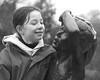 Admiration (cracurs) Tags: portrait blackandwhite statue 50mm olympus om manualfocus jephsongardens 50mm18 primelens panasonicgf1