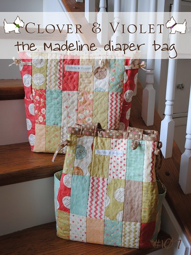 the Madeline diaper bag {pdf sewing pattern}