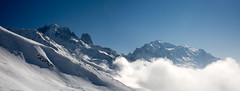 Verte, Drus et Mont Blanc (mll) Tags: panorama panoramic nuages chamonix montagnes panoramique lightroom aat mg4917mg49222images
