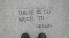 IMG_3735 (tantek) Tags: sanfrancisco feet graffiti there mission to much dolores dolorespark mourn so