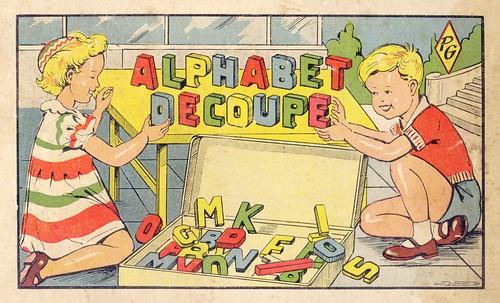 jeu alphabet decoupé