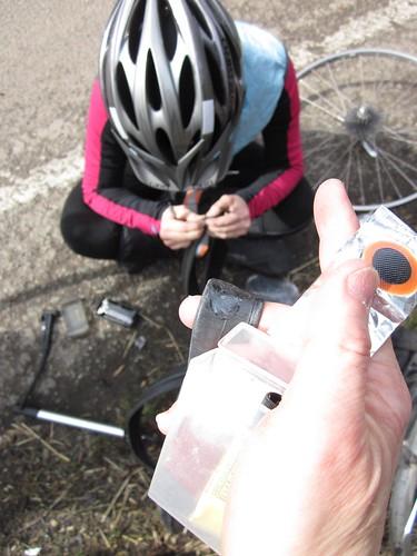 Susan, repairing her flat