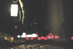 161.365 (dakotand) Tags: street light dog black feet fog night 35mm dark lights nikon floor bright path ground overlay 18 d5000